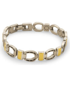 Sabona Men's Horseshoe Magnetic Bracelet, Silver, hi-res
