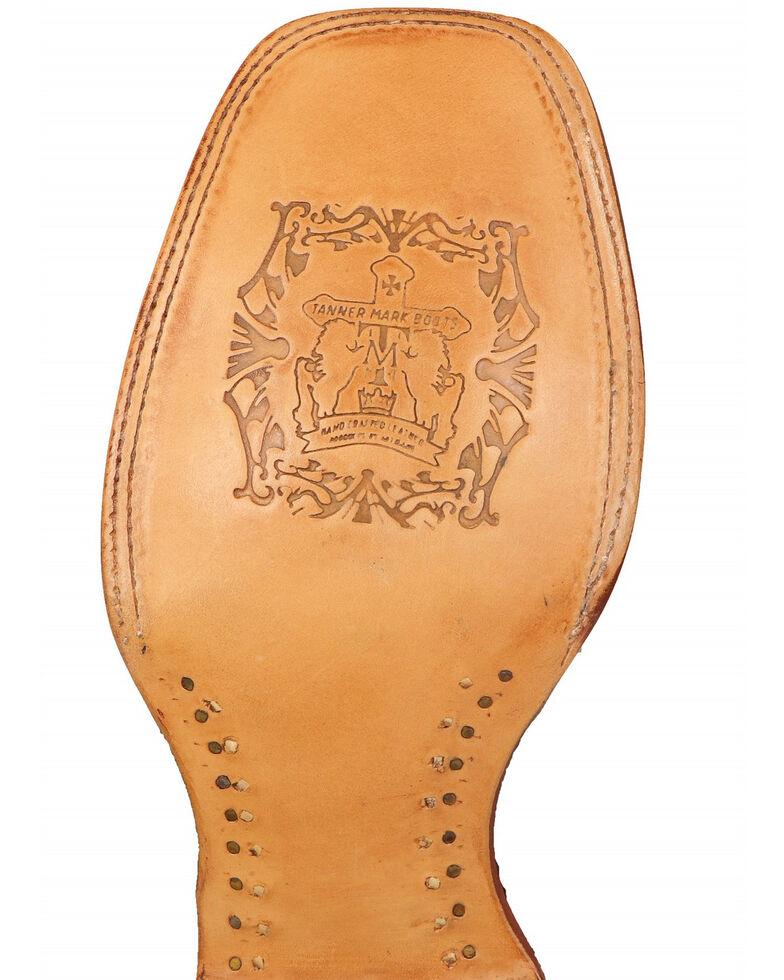 Tanner Mark Men's Rustic Fish Print Western Boots - Square Toe, Brown, hi-res