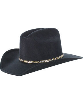 Cody James® Kid's Cowboy Hat, Black, hi-res