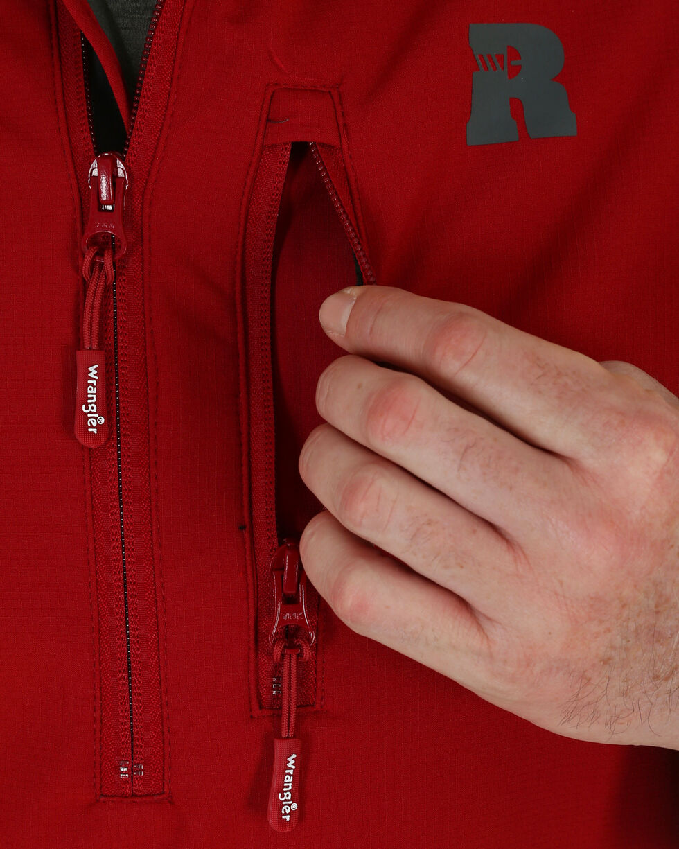 Wrangler Riggs Workwear Men's Technician Softshell Jacket, Red, hi-res