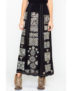 Tasha Polizzi Women's Rajah Skirt, Black, hi-res