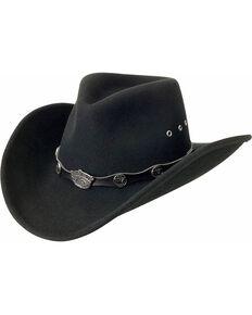 Jack Daniel s Logo Conchos Crushable Wool Felt Cowboy Hat d1c37ac54d6c