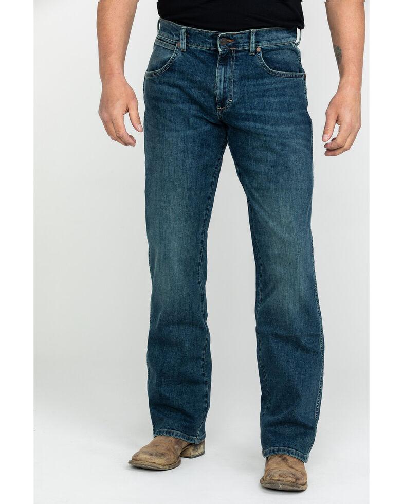 Wrangler Retro Men's Alpine Relaxed Bootcut Jeans, Blue, hi-res