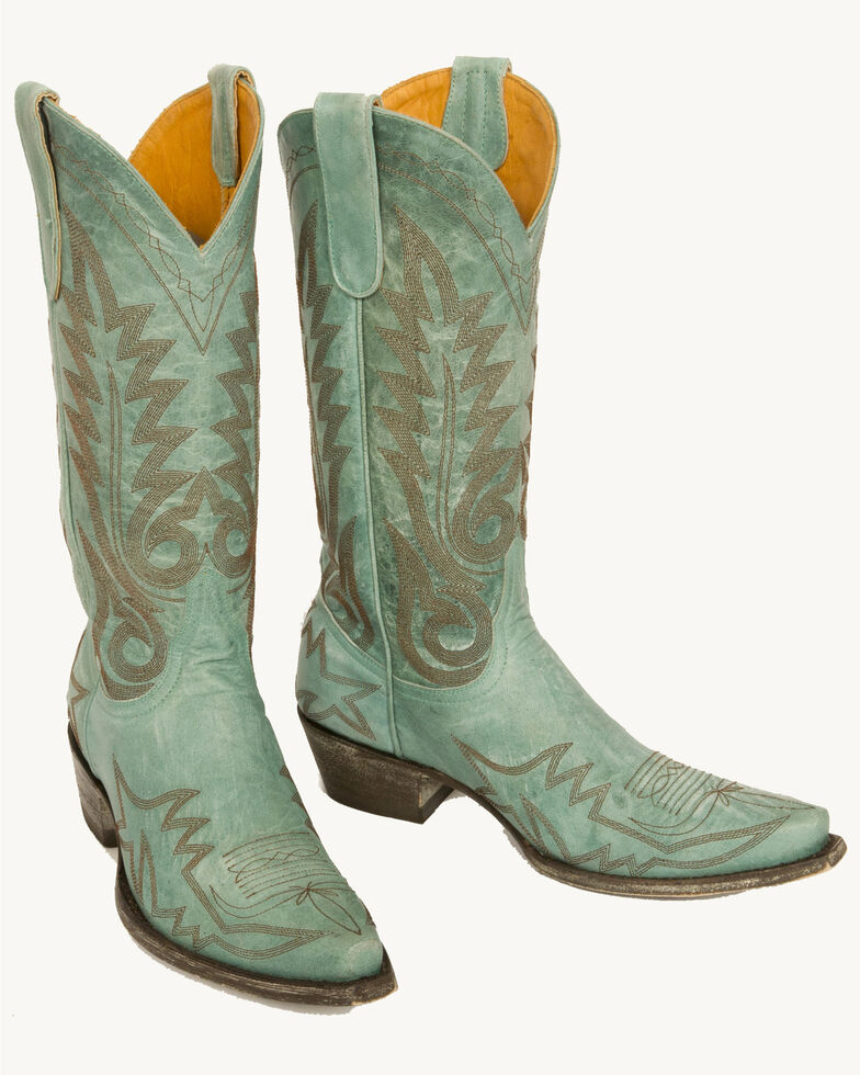 Old Gringo Women's Nevada Western Boots, Aqua, hi-res