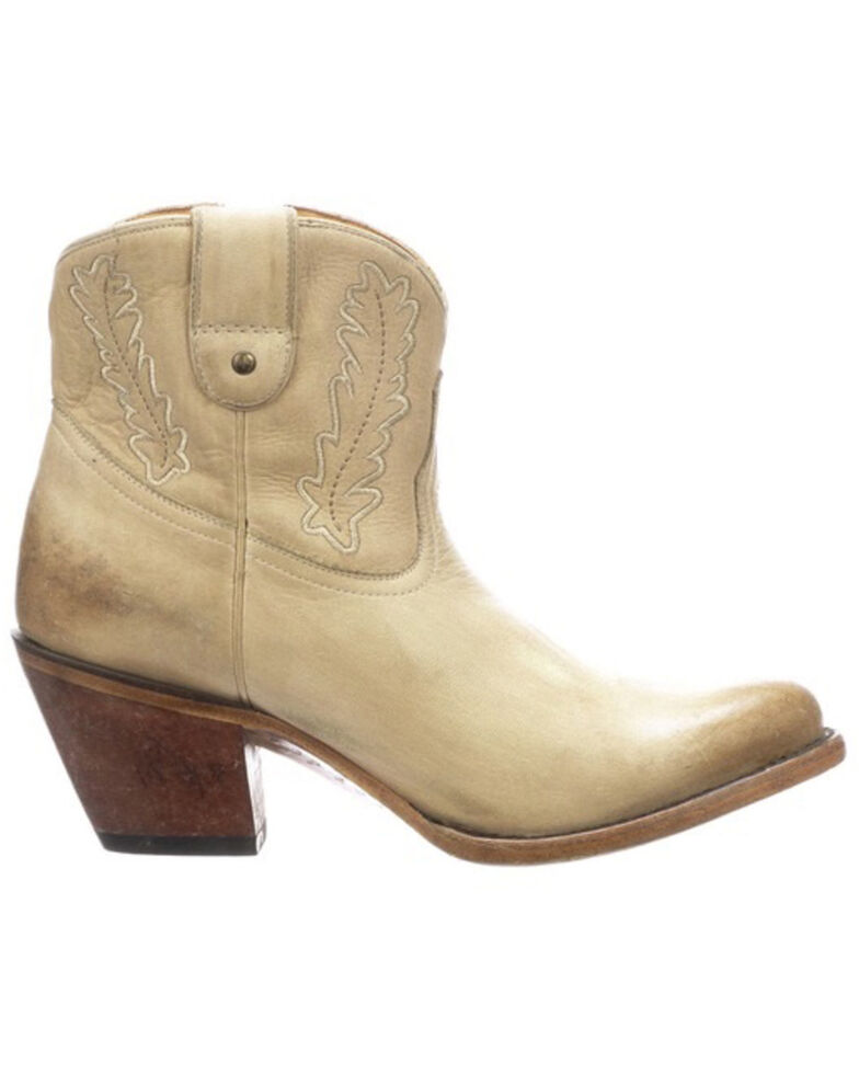 Lucchese Women's Wing Western Booties - Round Toe, Natural, hi-res