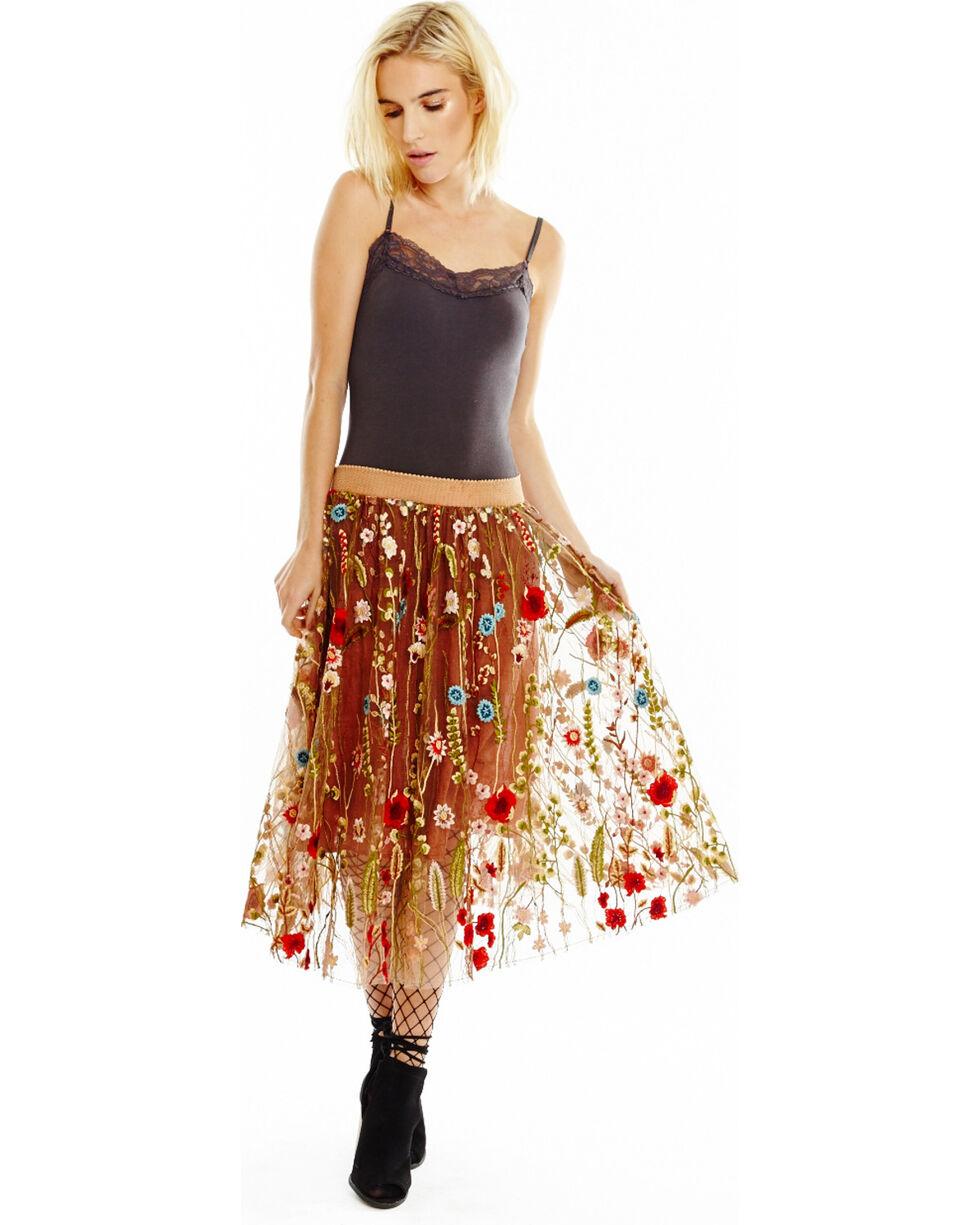 Aratta Women's Rust Claudia Skirt , Rust Copper, hi-res