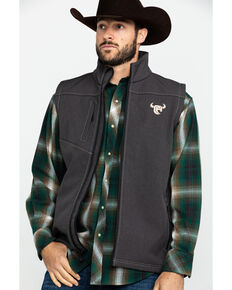 Cowboy Hardware Men's Tech Woodsman Vest , Black, hi-res