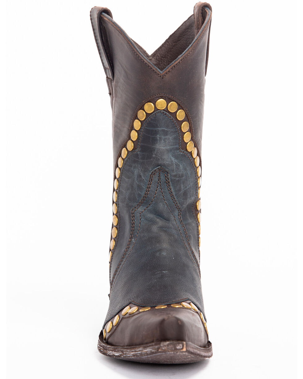 Idyllwind Women's Stud Western Boots - Snip Toe, Blue, hi-res