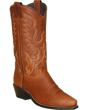 "Abilene Women's 11"" Soft Textured Western Boots, Brown, hi-res"