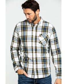Levi's Men's Holtby Plaid Button Long Sleeve Western Flannel Shirt , White, hi-res