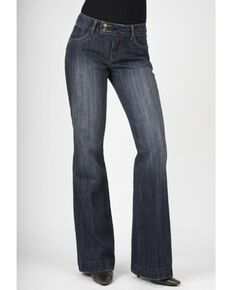 Stetson Women's 214 Fit City Trouser Jeans, Med Wash, hi-res