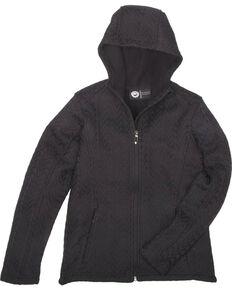 Key Women's Black Cable Knit Jacket, Black, hi-res
