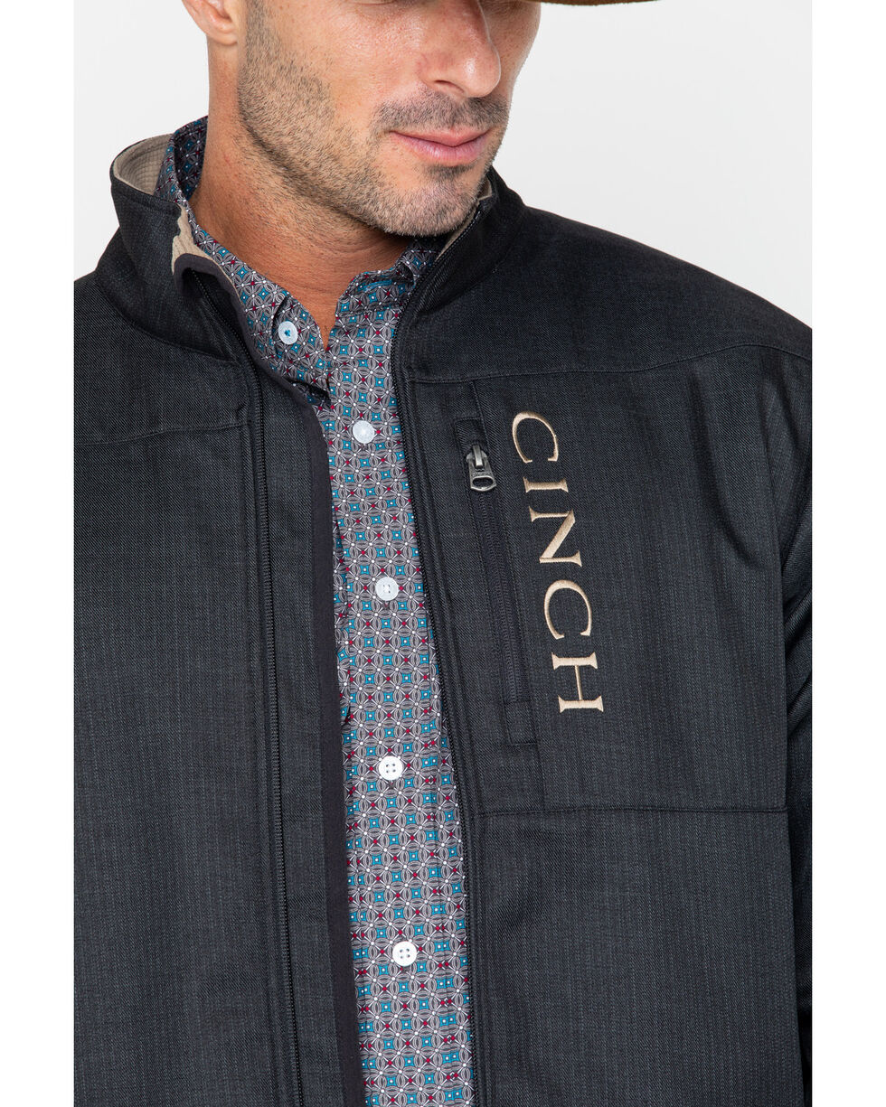Cinch Men's Black Textured Bonded Concealed Carry Jacket, Black, hi-res