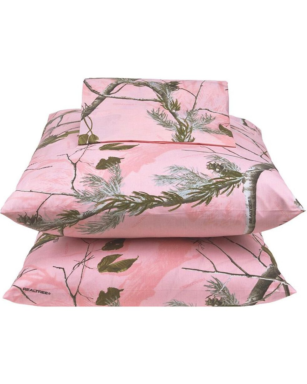 Realtree All Purpose Pink X-L Twin Sheet Set, Pink, hi-res