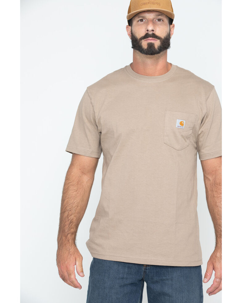 Carhartt Short Sleeve Pocket Work T-Shirt - Big & Tall, Desert, hi-res