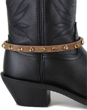 Shyanne® Women's Crystal Boot Bracelet , Brown, hi-res