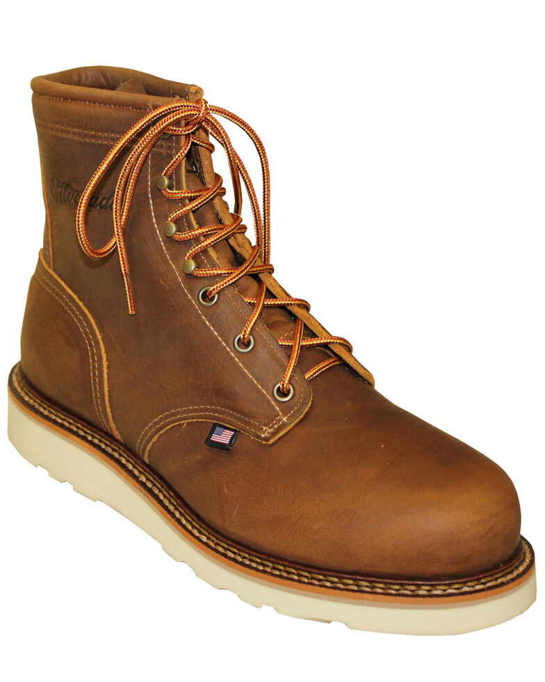 Silverado Men's American Tanned Work Boots - Soft Toe, Tan, hi-res
