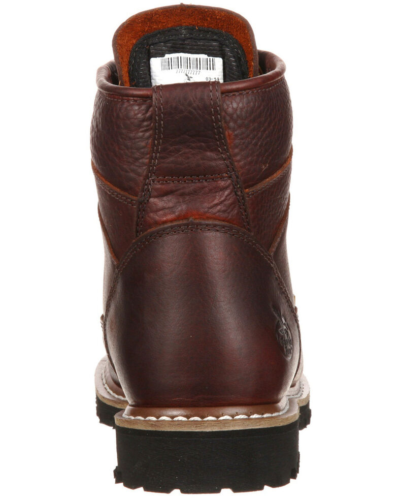 Georgia Boot Men's Waterproof Lace-To-Toe Work Boots - Round Toe, Brown, hi-res