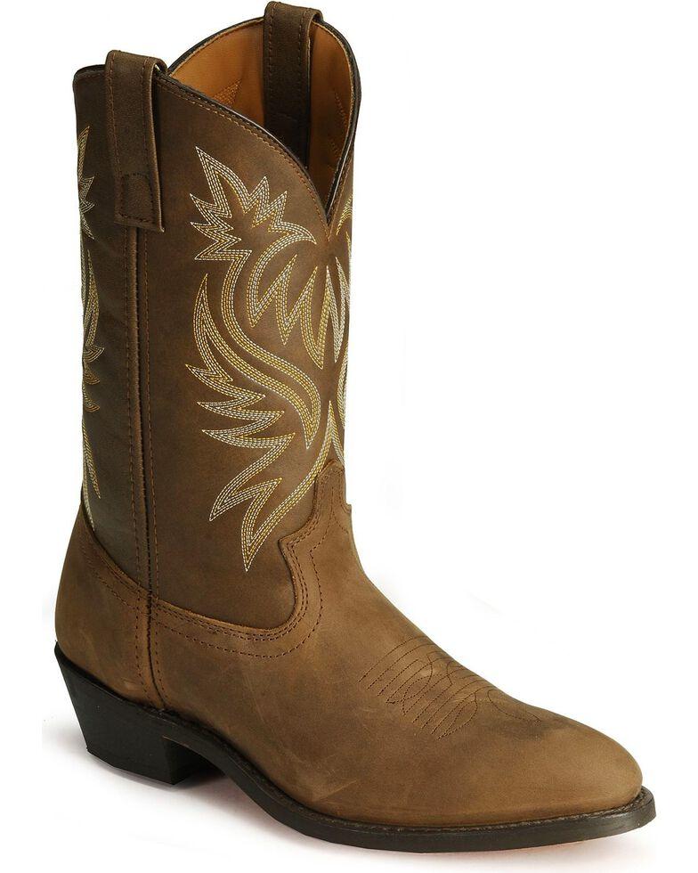 "Laredo Men's Western Cowboy 12"" Western Boots, Tan Distressed, hi-res"