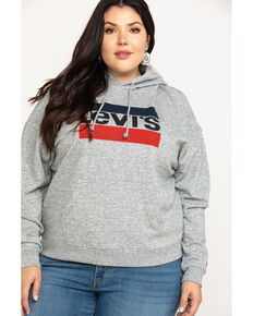 Levi's Women's Smokestack Sportswear Logo Sweatshirt - Plus, Grey, hi-res