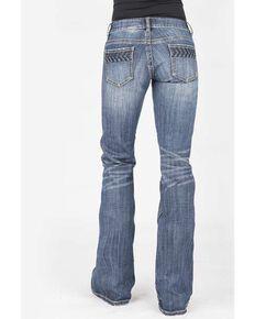 Stetson Women's 816 Classic Arrow Bootcut Jeans , Blue, hi-res