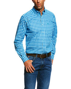 Ariat Men's Nazzaro Stretch Plaid Long Sleeve Western Shirt , Multi, hi-res