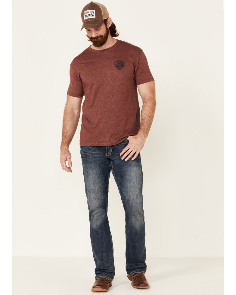 Moonshine Spirit Men's Small Batch Graphic Short Sleeve T-Shirt , Burgundy, hi-res