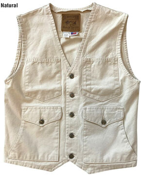 Schaefer Outfitter Men's Natural Vintage Mesquite Vest - 3XL, Natural, hi-res
