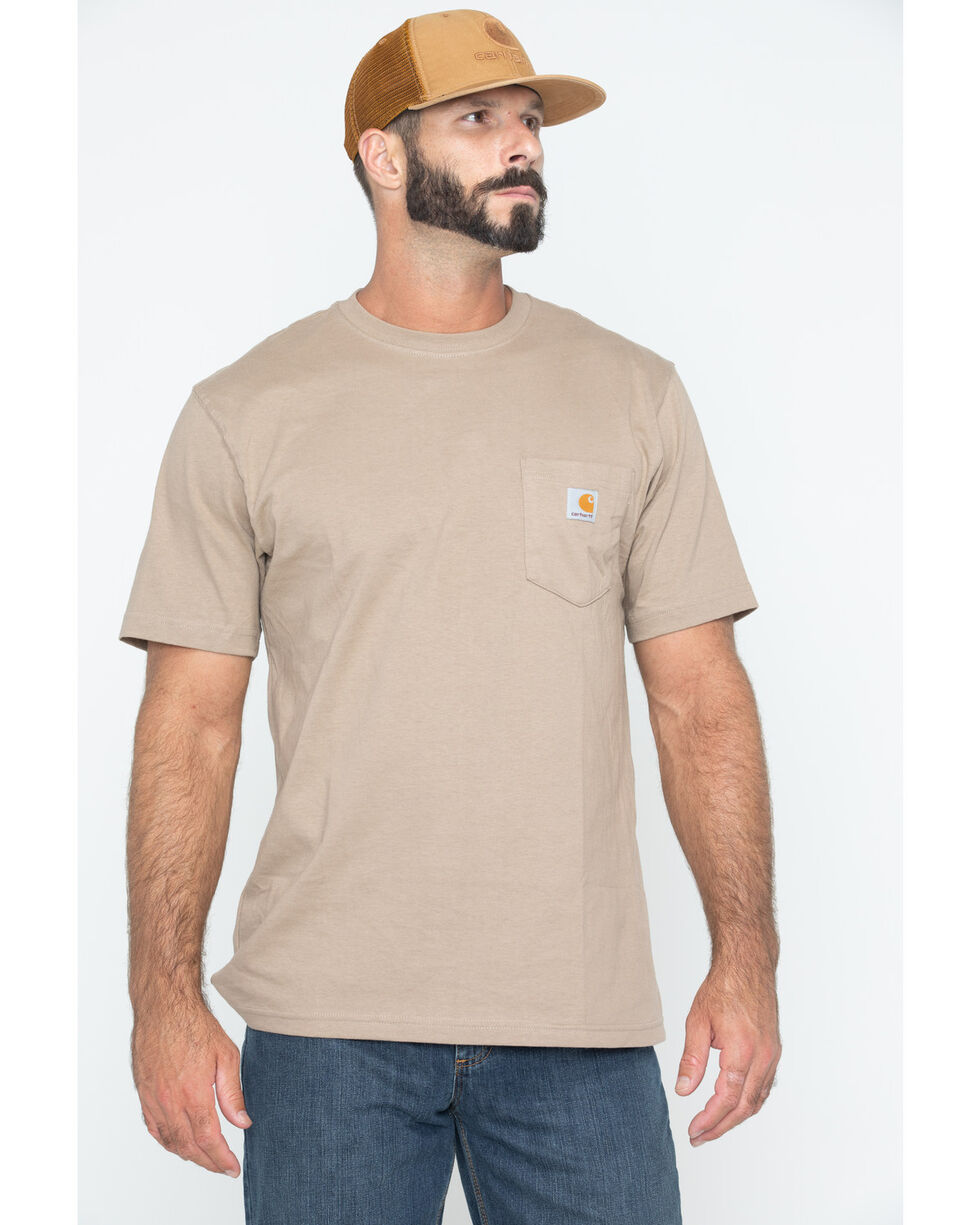 Carhartt Short Sleeve Pocket Work T-Shirt, Desert, hi-res