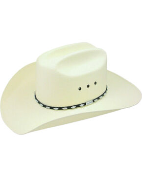 Resistol George Strait Silver Eagle Straw Cowboy Hat, Natural, hi-res