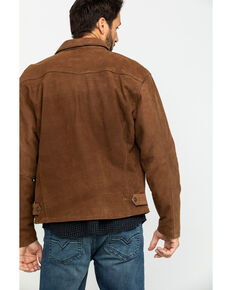 Cripple Creek Men's Roan Storm Flap Nubuck Lamb Leather Jacket , Dark Brown, hi-res