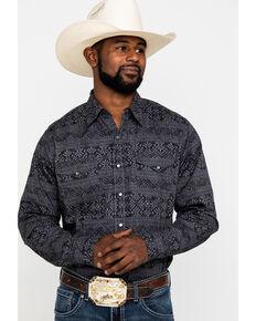 Roper Men's Blanket Aztec Print Long Sleeve Western Shirt , Black, hi-res