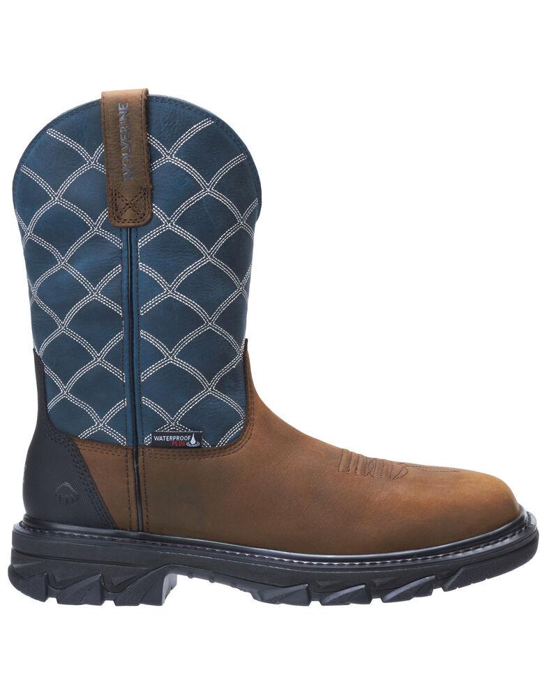 Wolverine Men's Ranch King Western Work Boots - Composite Toe, Blue, hi-res