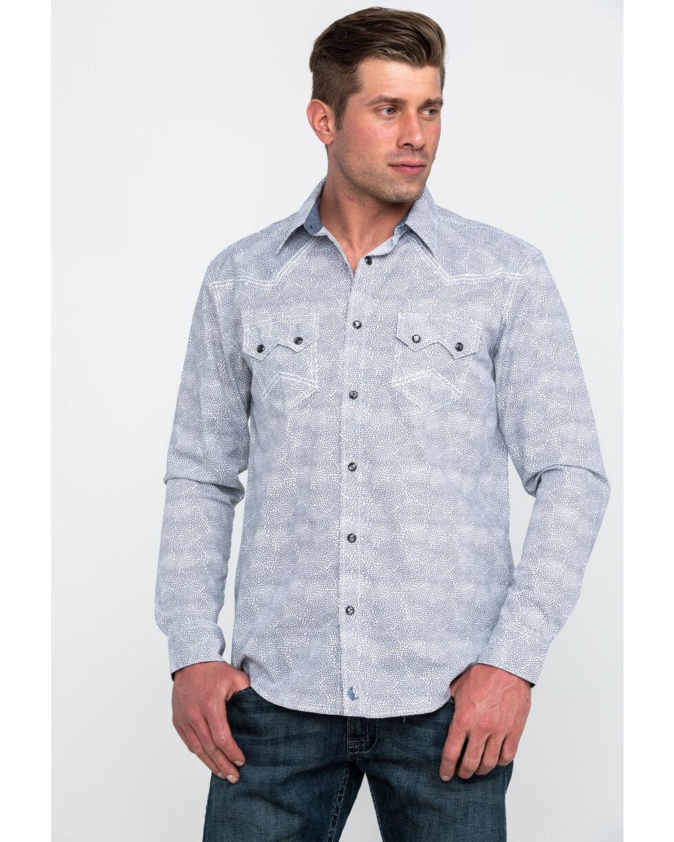Cody James Men's Waley Floral Print Long Sleeve Western Shirt , Navy, hi-res