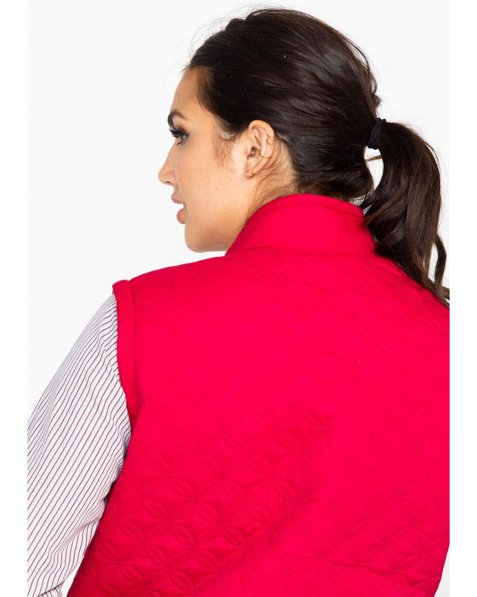 Berne Women's Nylon Quilted Trek Work Vest, Red, hi-res
