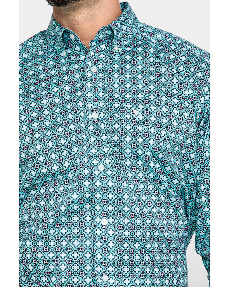 Ariat Men's Kerrington Stretch Geo Print Long Sleeve Western Shirt - Big , Multi, hi-res