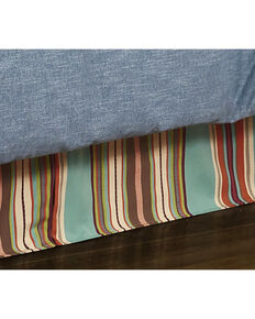 HiEnd Accents Turquoise Serape Bed Skirt - Twin, Turquoise, hi-res