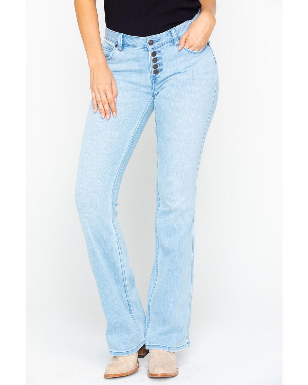 Idyllwind Women's Roadtrip Button Front Jeans, Blue, hi-res