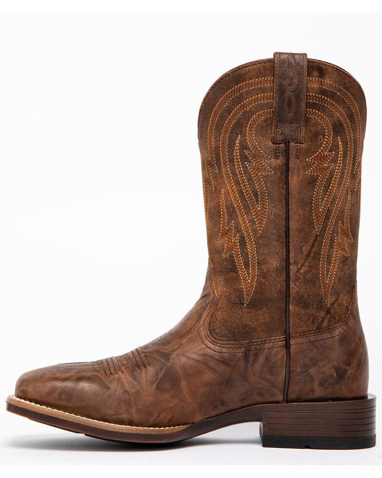 Ariat Men's Plano Bantamweight Performance Cowboy Boots - Square Toe, Brown, hi-res