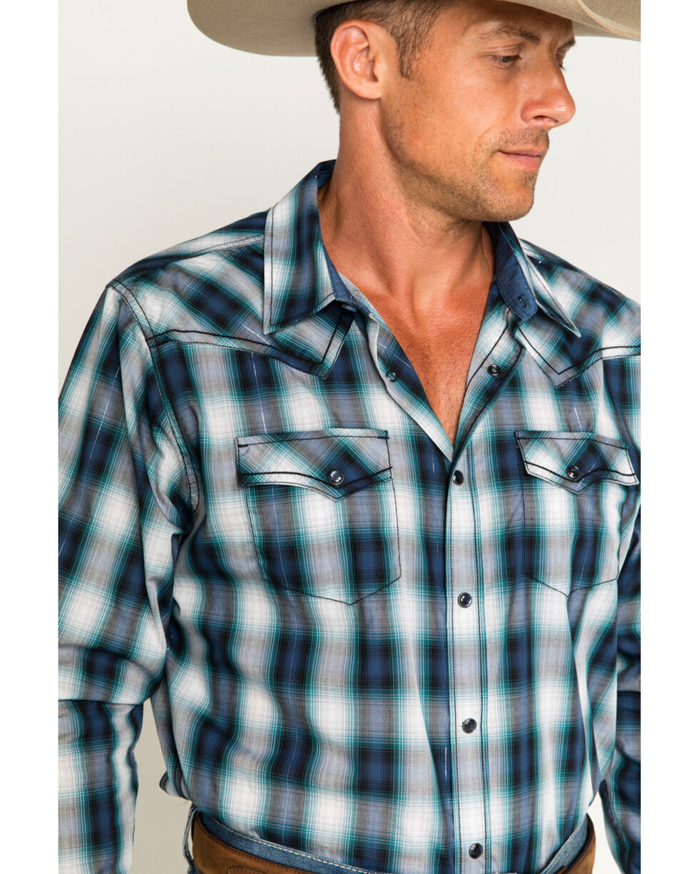 Cody James Men's Rockdale Long Sleeve Shirt, Blue, hi-res