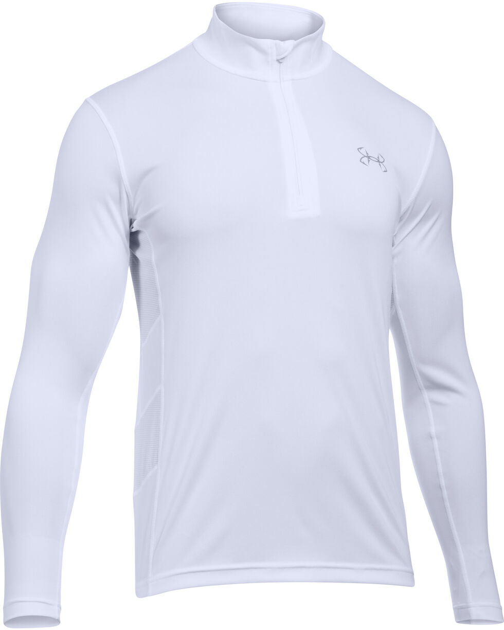 Under Armour Men's Fish Hunter 1/4 Zip Shirt, White, hi-res