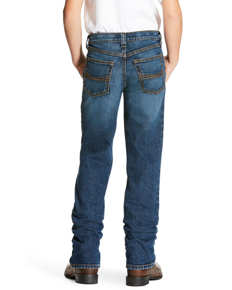Ariat Boys' Freeman Legacy Low Stretch Relaxed Boot Jeans , Blue, hi-res