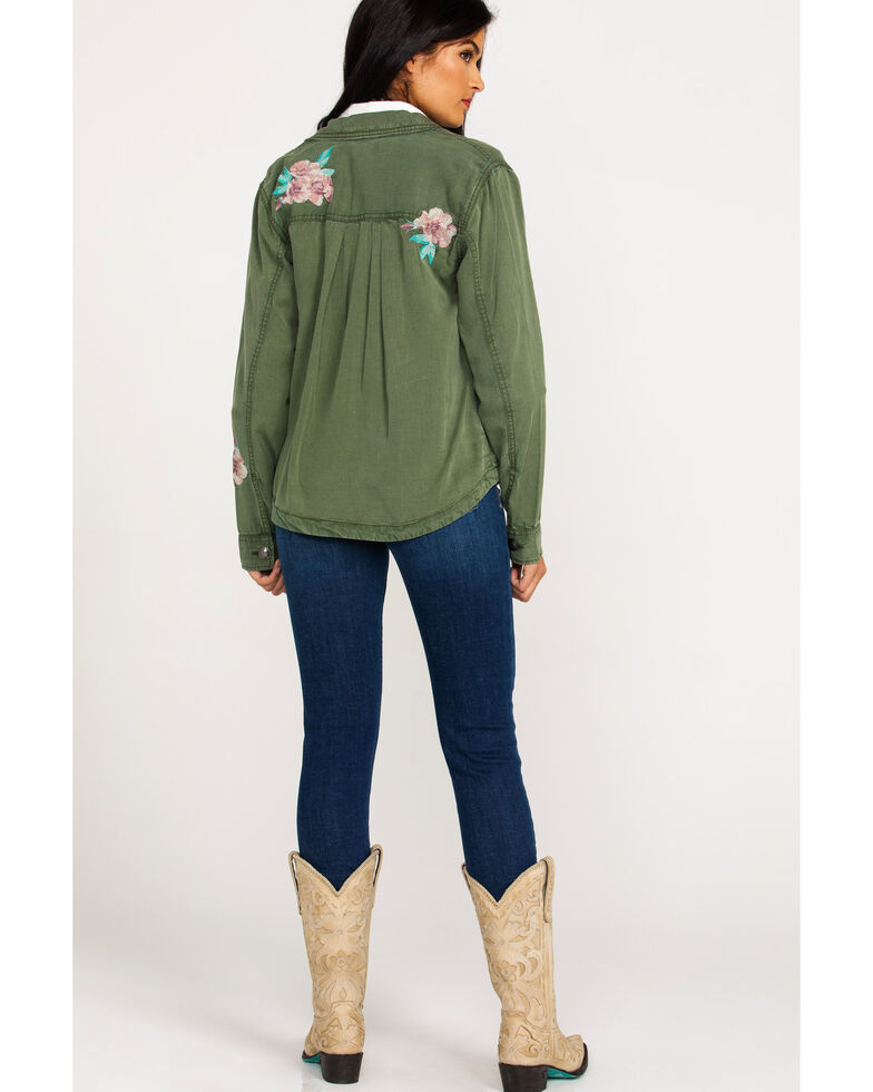 Ariat Women's Incognito Camo Button Front Jacket , Sage, hi-res