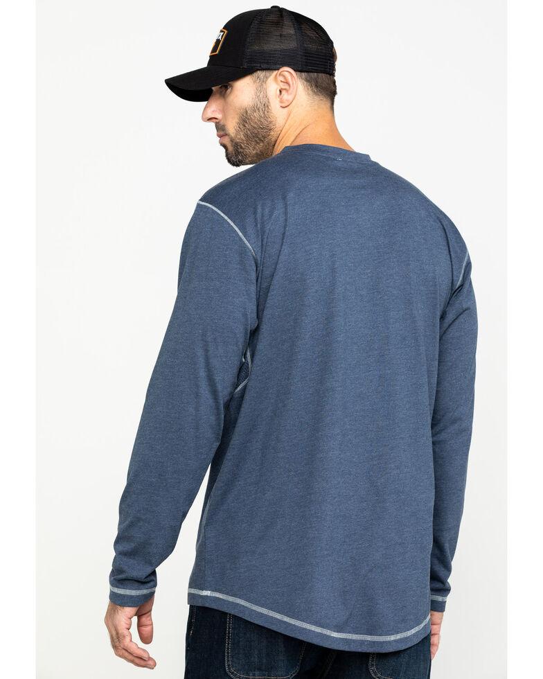 Ariat Men's Rebar Pocket Henley Long Sleeve Work Shirt , Slate, hi-res