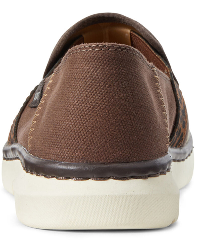 Ariat Women's Ryder Slip-On Burlap Shoes - Round Toe, Brown, hi-res