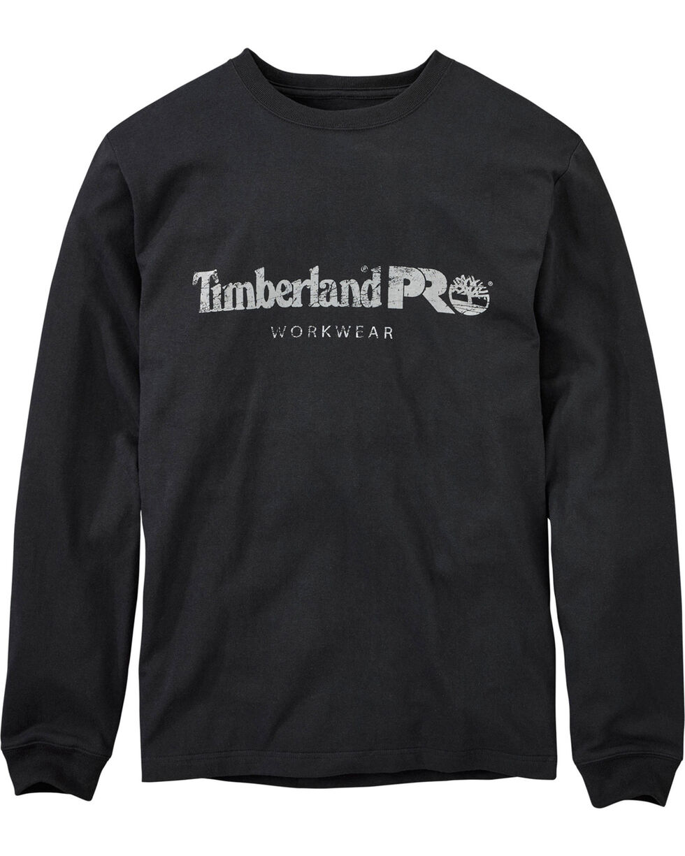 Timberland Men's Cotton Core Long Sleeve T-Shirt , Black, hi-res