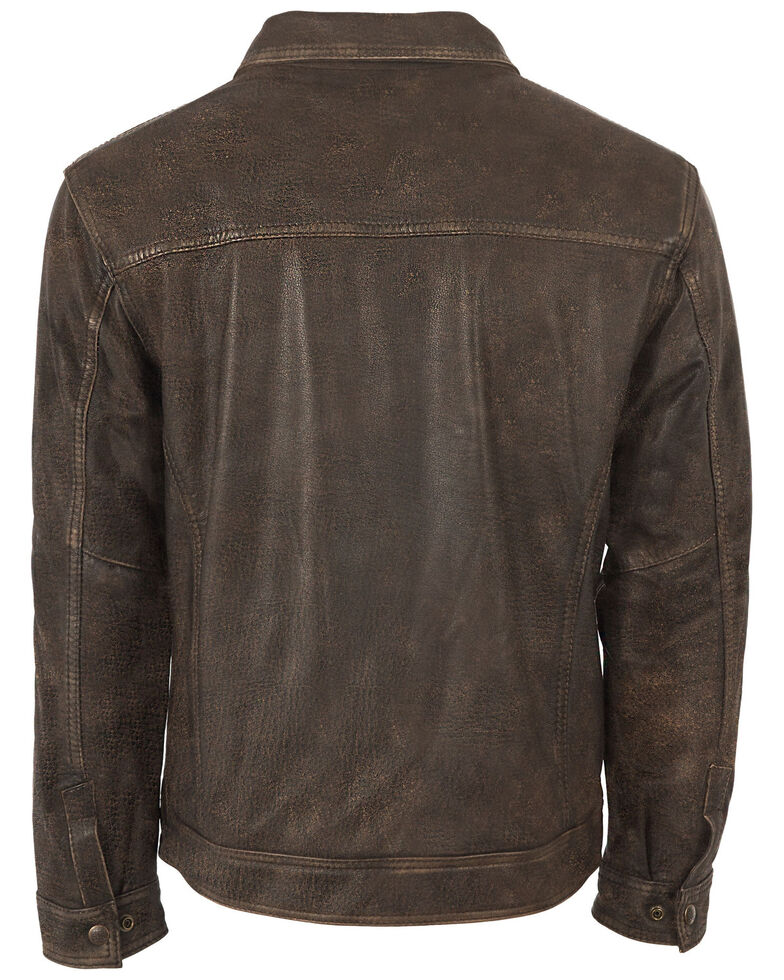 STS Ranchwear Boys' Youth Turnback Leather Jacket, No Color, hi-res