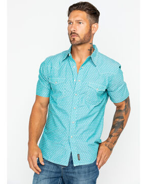 Wrangler Retro Men's Print Short Sleeve Shirt , Green, hi-res