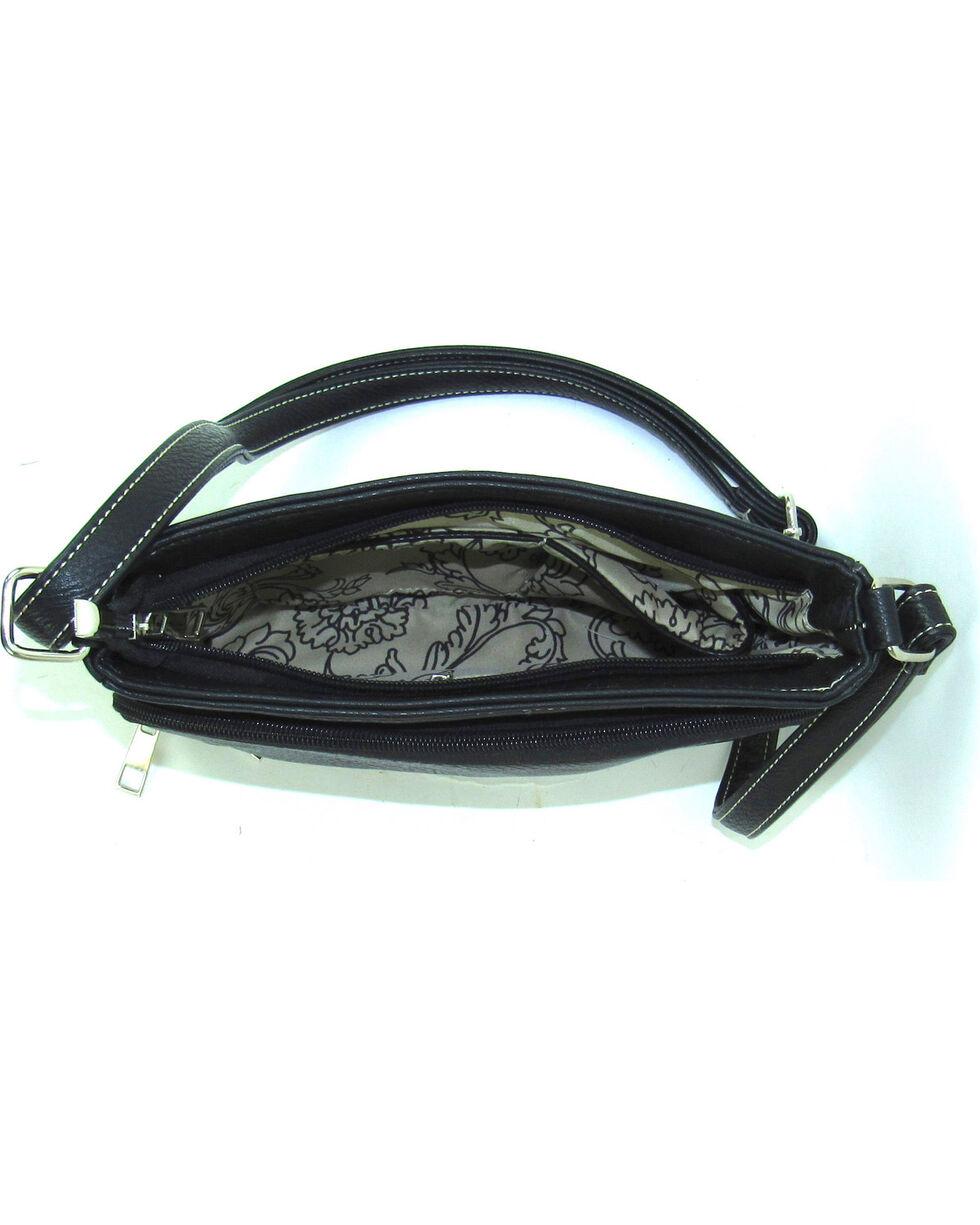 Savana Women's Black Professional Carry Embellished Crossbody Purse , Black, hi-res