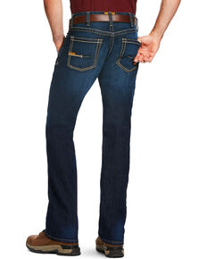 Ariat Men's Rebar M4 Edge Low Rise Maritime Wash Jeans - Boot Cut, Blue, hi-res